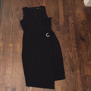Ivanka Trump black wrap dress asymmetric 4